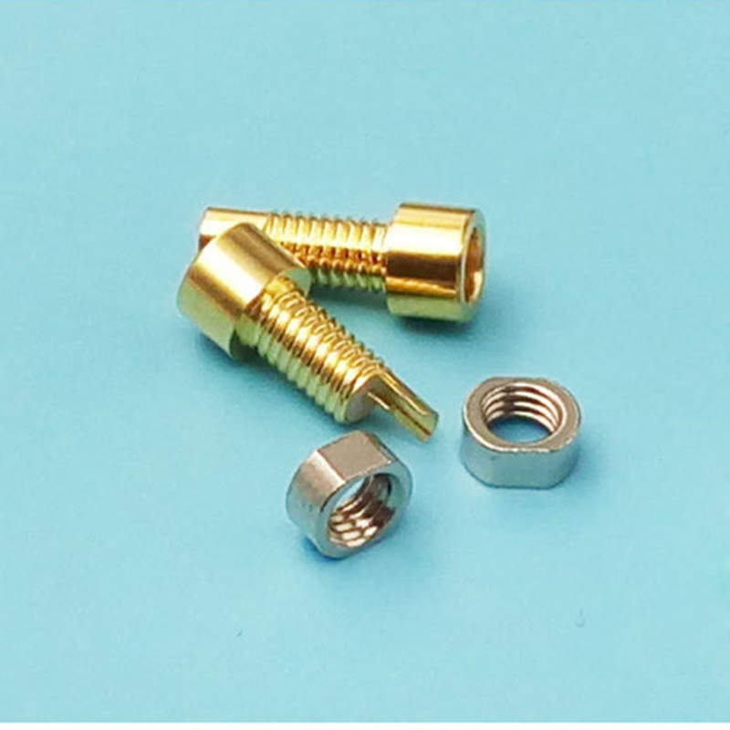 10 pairs Universal pin socket Female mmcx Built in thread nut gold plated copper for shure