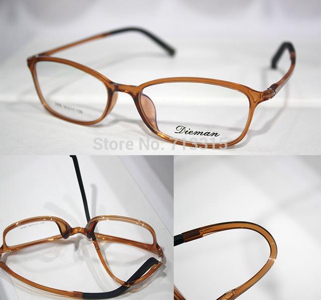 Tr90 pode arbitrariamente dobrado, Como fazer yoga personalizado lentes de óculos de leitura óculos de miopia - 1.00 a - 6.00