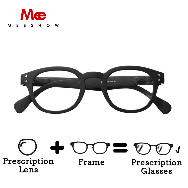 2018 MEESHOW Europe style hot sales  Men women eyeglasses quality optiker  brille with customized lens 1513