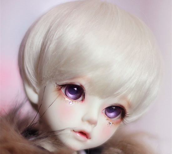 White short wigs high temperature wire available for 1/8 1/6 1/4 /1/3 dolls SD BJD doll accessories doll wigs beioufeng 1 8 bjd sd doll wigs for dolls high temperature wire short wigs straight synthetic doll hair for dolls accessories