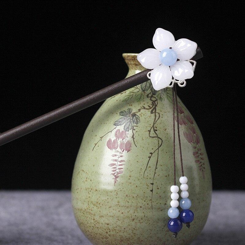 Handmade Wooden Flower Hairpin 4