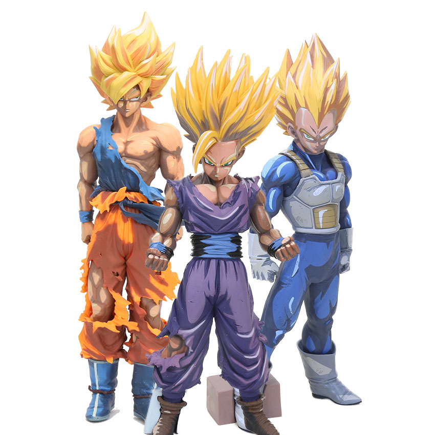 MSP Dragon Ball Z Master Stars Piece Son Goku Manga Dimension gohan Super Saiyan Vegeta PVC dragonball Action Figures model toy(China)