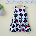Baby1 - 2 years old girls summer clothing infant one-piece sunflower princess dress clothing free shipping