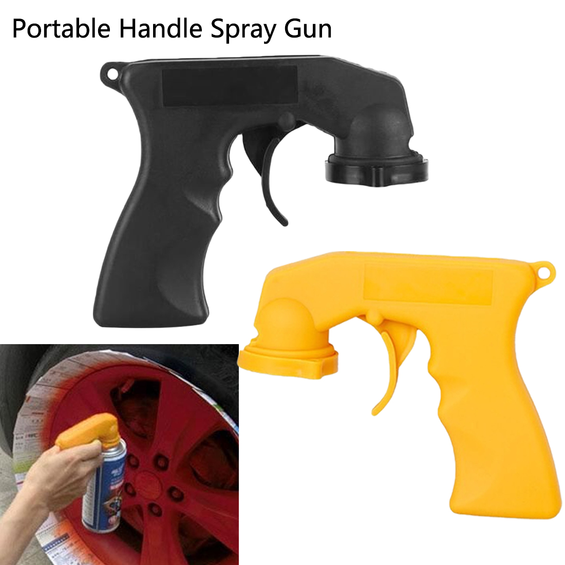 Portable Handle Spray Gun Aerosol Spray Can Handle with Full Grip Trigger for Painting Hand Tool Set