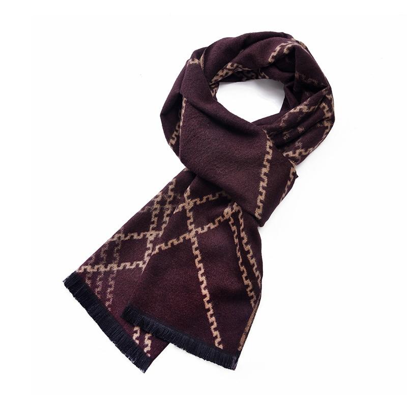 Men Scarf Cashmere And Silk Winrer Warm Men'S Stylish Plaid Blanket Winter Warm Shawl Classic Lattice