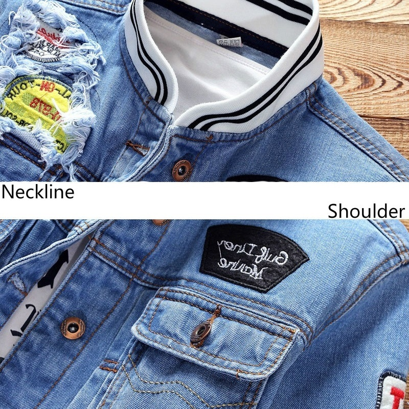 HTB1ltAGbA5E3KVjSZFCq6zuzXXaV Spring Trend Casual Loose Jacket Men's Denim Jackets Slim Fit 2019 New Men Fashion Cool Stand Collar Plus Size Pilot Coat Zipper
