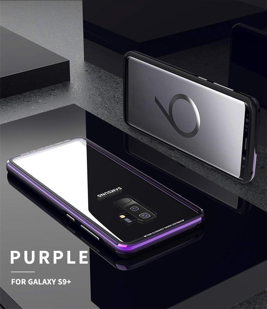 Luxury Aluminum Phone Cases For Samsung galaxy s9 Original R-just Hardness Tempered Glass Cover Case S9 Plus S9+ Accessories (12)