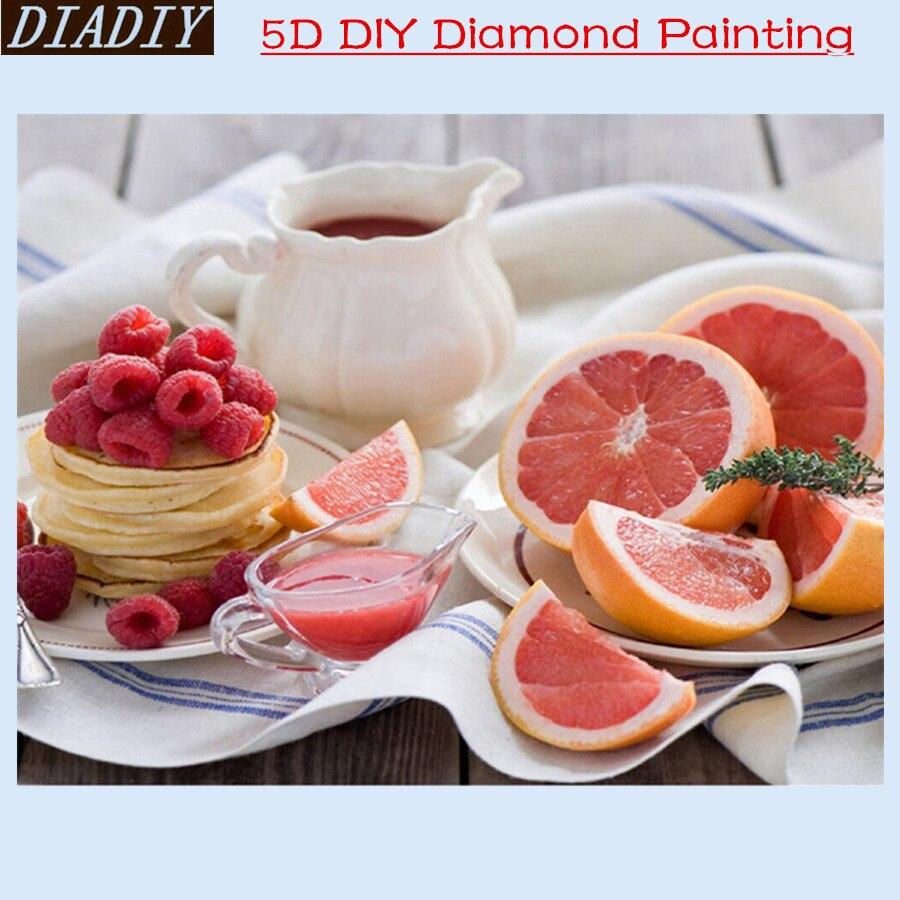5D DIY Diamond Embroidery Diamond Painting orange Squirrel On Tree Fruit Mosaic Daisies Round Diamond Painting Cross Stitch