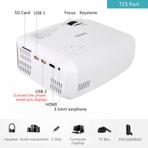 Image 3 - ALSTON T23 series LED Projector Portable Video HD Mini Beamer HDMI VGA Home Theater Optional T22 Projector