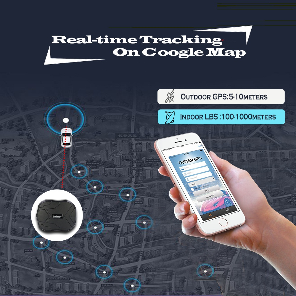 Traqueur de voiture GPS TKSTAR TK905 étanche 5000 MAH longue durée de vie du véhicule localisateur GPS pour moto de camion avec écoute vocale - 4