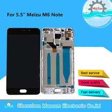 """5.5 """"Gốc M & Sen Cho Meizu M6 Note Màn Hình LCD + Bảng Điều Khiển Cảm Ứng Bộ Số Hóa Với Khung meizu Meilan Note 6 Màn Hình Hiển Thị LCD"""