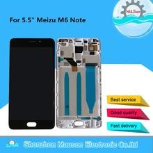"""5,5 """"Оригинальный ЖК экран M & Sen для Meizu M6 Note + сенсорная панель дигитайзер с рамкой для Meizu Meilan Note 6 ЖК дисплей"""