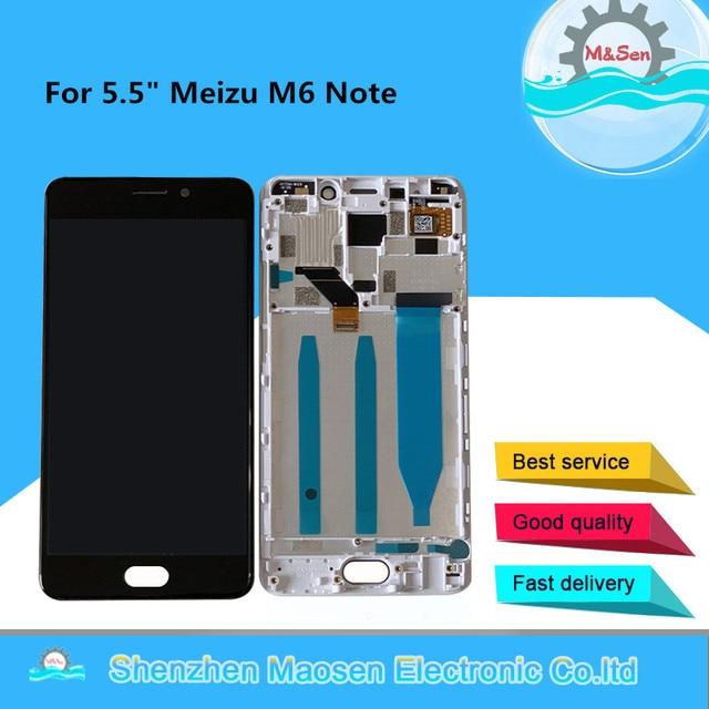 M & Sen pantalla LCD Original de 5,5 pulgadas para Meizu M6 Note, Digitalizador de Panel táctil con marco para Meizu Meilan Note 6