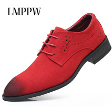 Luxury Brand Men Oxfords Shoes Suede Leather Casual British Fashion Pointed Dress Wedding Breathable Moccasins