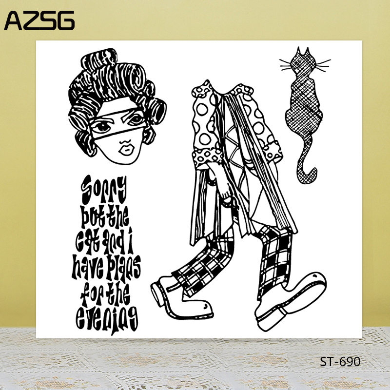 AZSG/Cat/Cattle Clear Stamps/Seals For DIY Scrapbooking/Card Making/Album Decorative Silicone Stamp Crafts