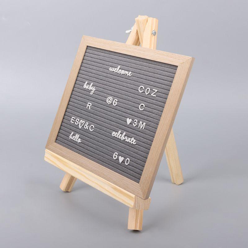 Ofis ve Okul Malzemeleri'ten Şövaleler'de 18X24cm Mini sanatçı ahşap şövale düğün masa kartı standı ekran tutucu parti dekorasyon için title=