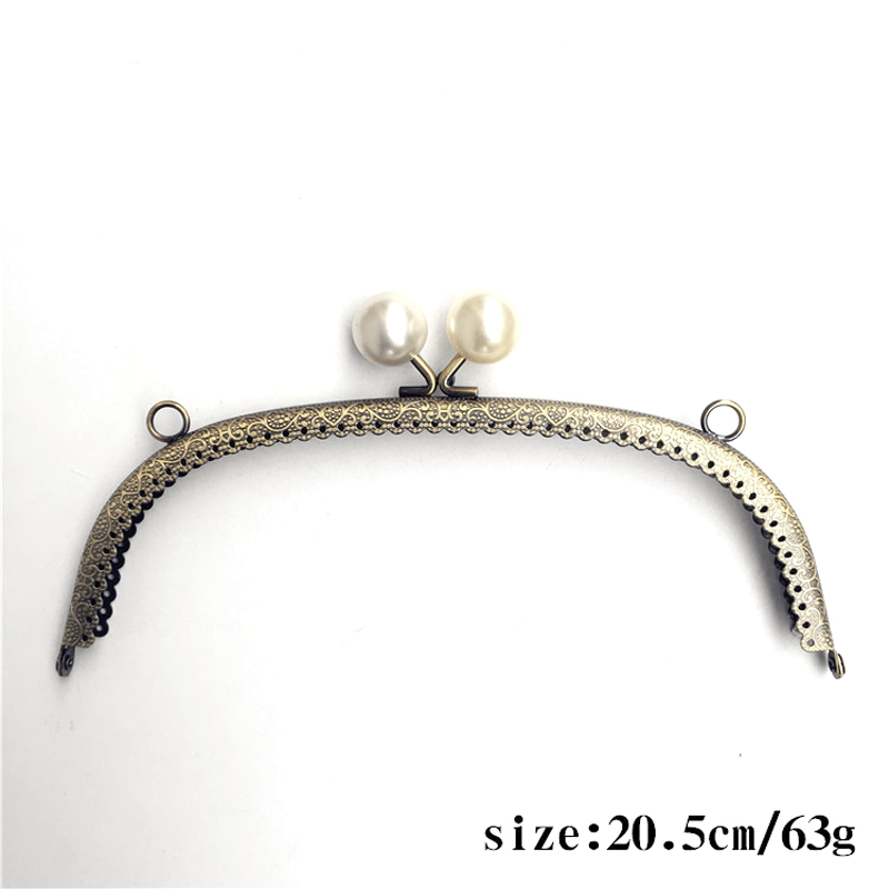 Free Shipping FASHIONS KZ Metal Purse Frame Handle Bronze Curved Embossed Handle 12.5~20cm for DIY Purse Bag Accessories