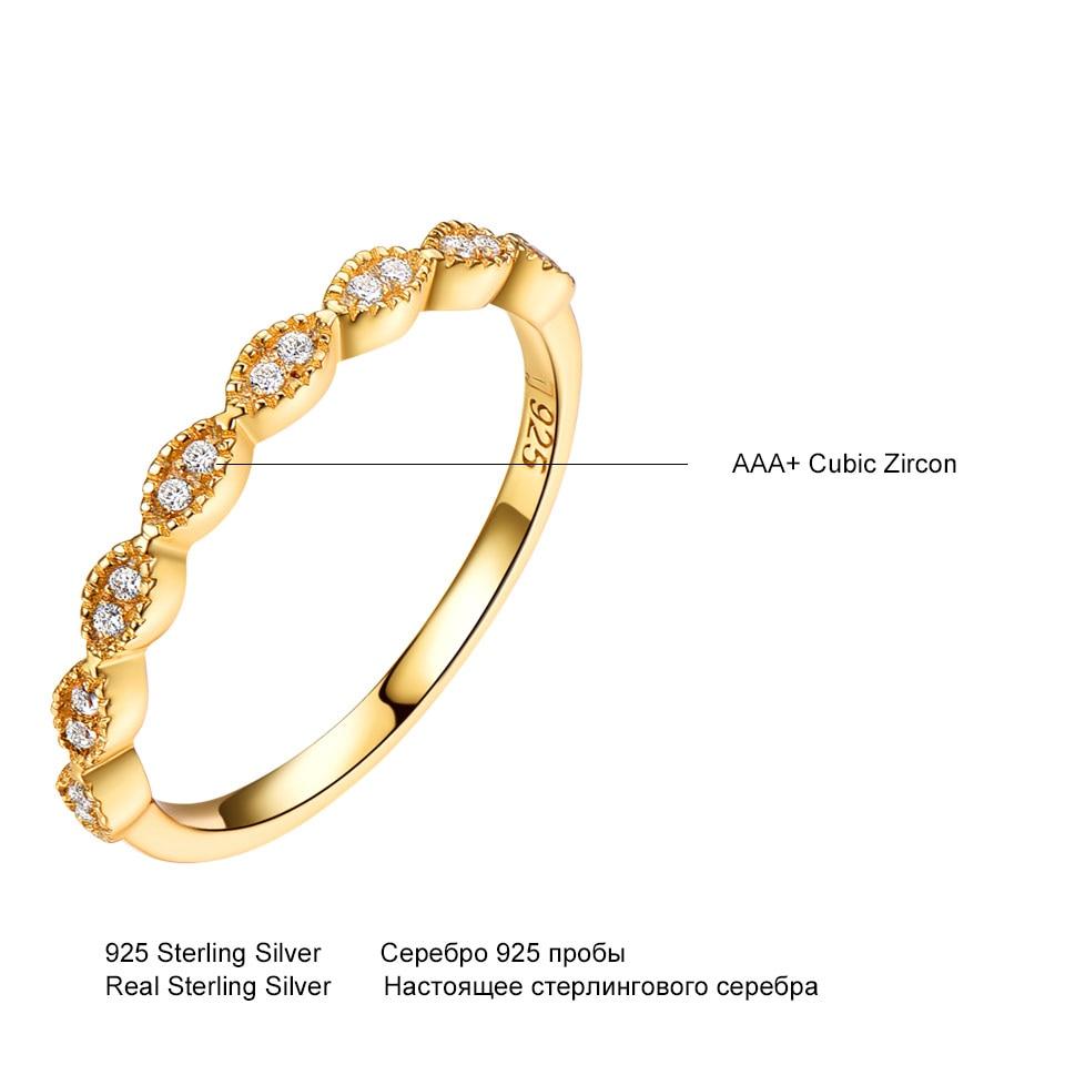 UMCHO Ægte Pure 925 Sterling Sølv Ringe For Kvinder Uendelig - Smykker - Foto 6