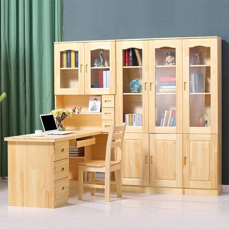 houten computer bureau hoek boekenkast combinatie van eenvoudige kinderen leren tafel met planken in houten computer bureau hoek boekenkast combinatie van