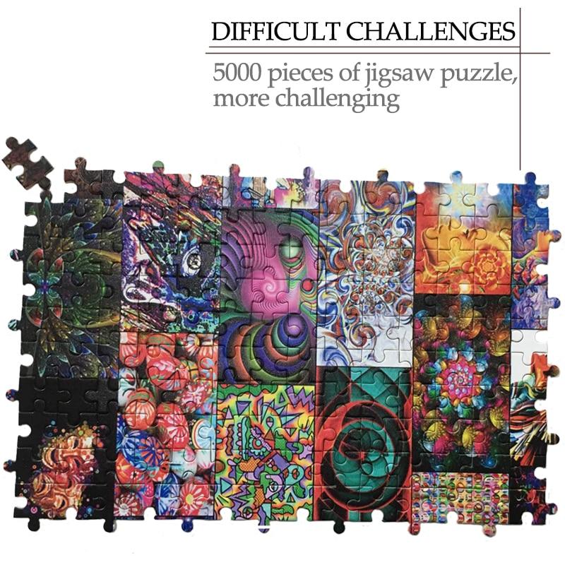 MOMEMO градиентный цвет головоломки гигантский сложный 1500 штук головоломки для взрослых высокого разрешения головоломки игрушки подарки - 4