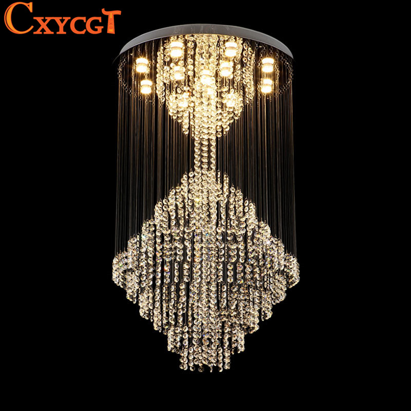 ... Modern Large Crystal Chandeliers Lighting Fixture for Long Stair Hotel  Villa USD  777.78 × Free shipping Wholesale New Modern Crystal Chandelier  Light ... 4947133cd252