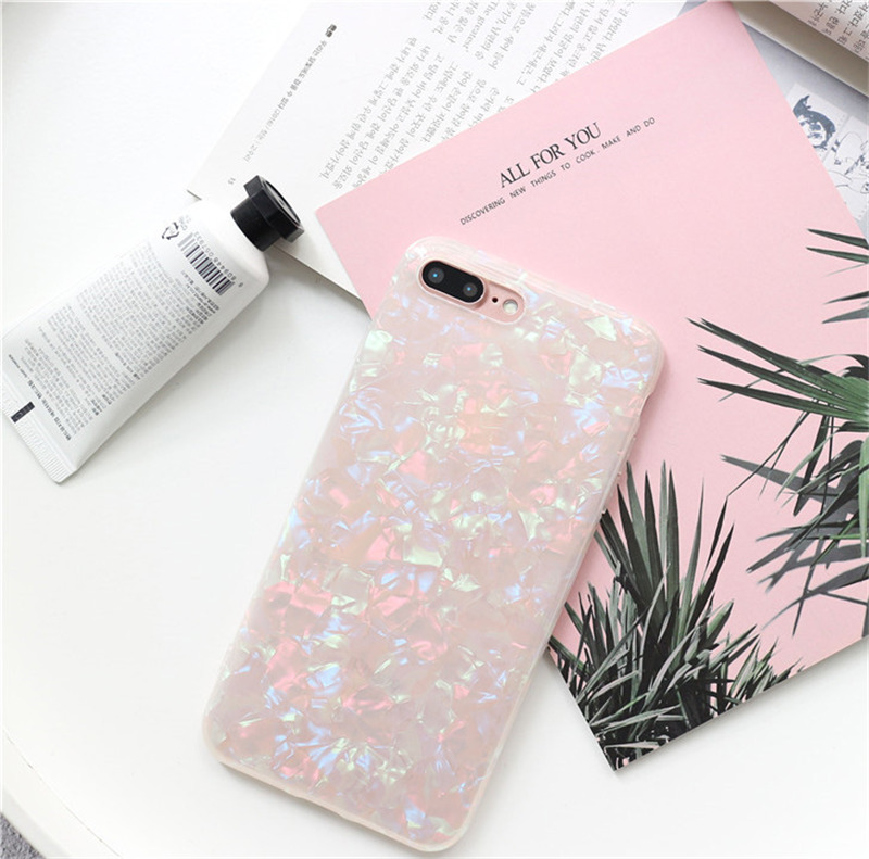 HTB1ltC6namWBuNjy1Xaq6xCbXXas - USLION Glitter Phone Case For iPhone 7 8 Plus Dream Shell Pattern Cases For iPhone XR XS Max 7 6 6S Plus Soft TPU Silicone Cover