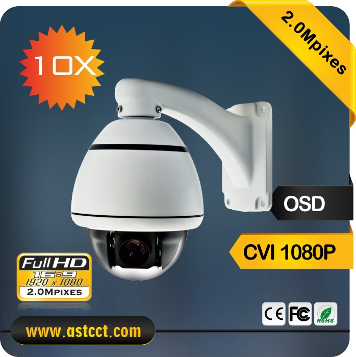 10x Zoom CVI PTZ Camera 2.0MP Sony Sensor CVI Mini High Speed Dome Camera 1080p CVI Output Camera Support Coaxial Cable control ir 200m 1080p 7 0inch ptz camera ahd tvi cvi cvbs 33x zoom sony imx323 chipset nvp2441 dsp cctv high speed dome camera