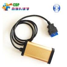 3 шт./лот 2016 Лучшие Продажи Золотого Цвета CDP PRO + Bluetooth 2013 R3 CDP PRO TCS CDP OBD2 Автоматический Диагностический Инструмент БЕЗ OKI чип