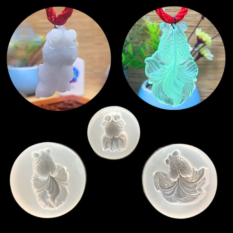 3Pcs Goldfish Pendant Mold Resin Casting Mold Jewelry Making Jewelry DIY Tools