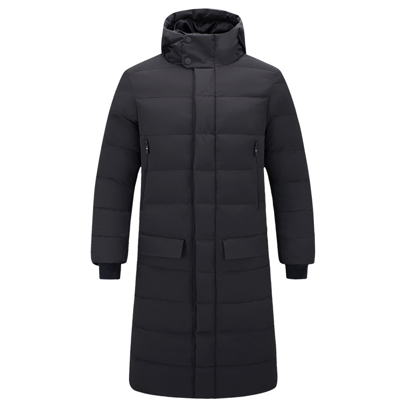 MRMT 2019 Brand New Men's Jackets Thickening Overcoat For Male Leisure Long Cotton-padded Pure Color Hooded Jacket Clothing