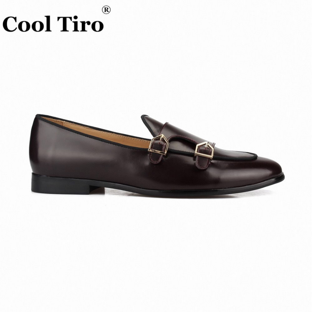 POLISHED LEATHER DOUBLE-MONK LOAFERS Brown (9)