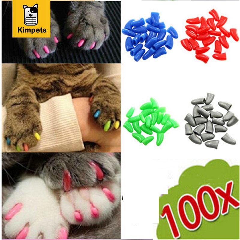100 pcs 5 Bags Soft Nail Caps for Cats Pet Cat Nail Christmas Gift For Pets at Soft paws Nail Protector with free Adhesive Glue
