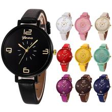 2017 NEW Women Casual Checkers Faux Leather Quartz Analog Wrist Watch L823