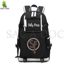 Sally Face Cartoon Backpack Teenager Students School Bags Large Capacity Backpack Women Men Laptop Backpack Casual Travel Bags недорого