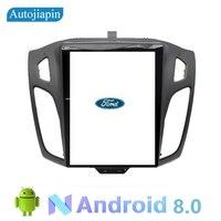 AUTOJIAPIN 10,4 восемь основных Android 7,1 2 г Оперативная память 1024*600 автомобильный навигатор плеер для FORD Focus 2012 2015 с стерео радио аудио