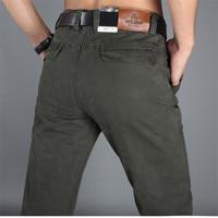 New 2014 Men Casual Cotton Mens Pants Brand Men Pants Plus Size 30 42 Black Khaki