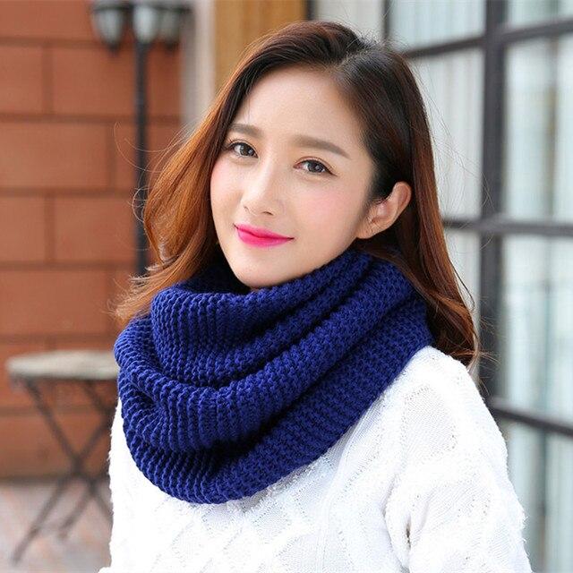 2018 новый осенний зимний хлопчатобумажный шарф теплый кольцо шарфы для Для женщин трикотажные шеи шарф женский сплошной цветная трубка шарф шали