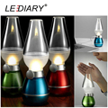LEDIARY Retro Classic Blow Light LED USB Rechargeable Blowing Kerosene Lamp Dimmable Bedside Desk Lamp Red/Blue/Green/Golden