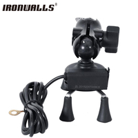 12V 24V Universal Black X Shape Mobile Phone Holder With USB Charger For Motorcycle MTB Electric