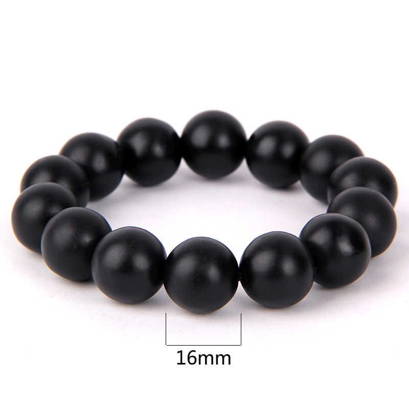 Moda prawdziwe czarny kamień naturalny Bian bransoletka byanshi dla mężczyzn i kobiet 16mm zroszony duży kamień bianshi bransoletka