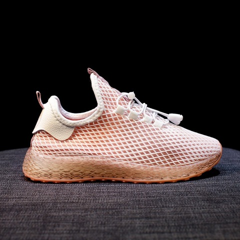 Sneakers Women Sports Shoes Lace-Up Running Shoes Fashion Summer Mesh Round Cross Street Sneakers Walking Shoes Casual Shoes Islamabad