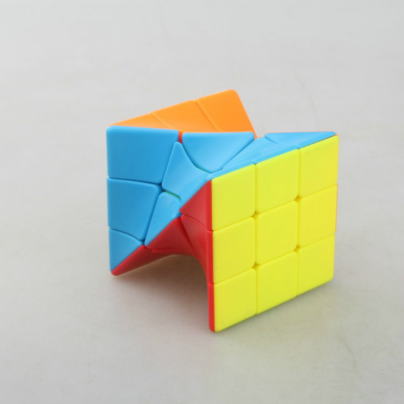 Colorful Fangge 3x3 Torsion Strange-shape Magic Cube Coloful Twisted Cube Puzzle Magic Cube Cool Toy For Challange