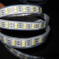 5M 600LEDs 120led/M 5050 LED Strip Light;waterproof in silicon tube;white pcb;DC12V input;144W