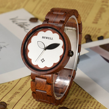 BEWELL Wood Watch Women Luxury Brand Female Wooden Band Ladi