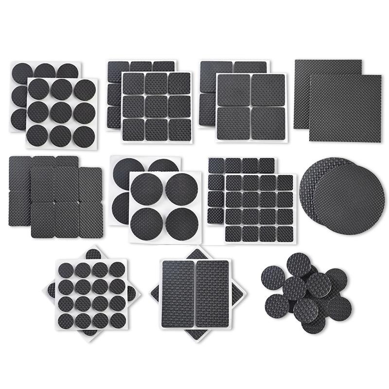 Self Adhesive Non-slip Mat Sticky Pads Anti Slip Rubber Furniture Leg Feet Rug Felt Pads Cover Table Feet Furniture Pads