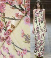 Telas algodon 3d silk velvet fabric flowers tessuto velours thermocollant tissu japonais dress suit cotton fabric meter suede