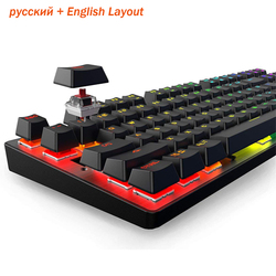 Gaming Keyboard Ergonomic Design Mechanical Keyboard LED Backlit, Non-Slip for Gaming and Working 87 / 104 Keys Russian English