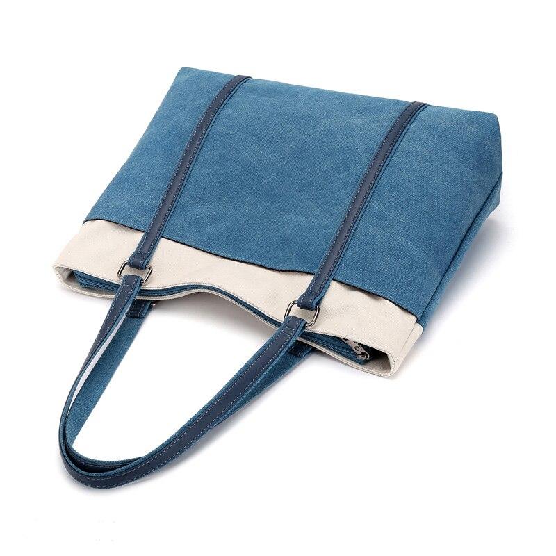 Delle red Famose Di Shopping Signore Marche Top Handle brown Tela gray Bag Tote Bonsacchic Borse Grandi Borsa blue Grande Donne Borsoni Black Capacità FqSw1xqz