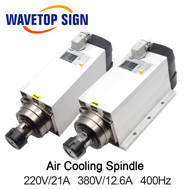 Air Cooling Spindle with Fixed Seat GDF60 18Z 6 0 6kw 220V 21A 380V 12A 18000rpm