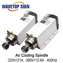 Воздушное охлаждение шпинделя с неподвижная основа GDF60-18Z-6.0 6kw 220 V 21A 380 V 12A 18000 об/мин 300 Гц патрон гайка ER32